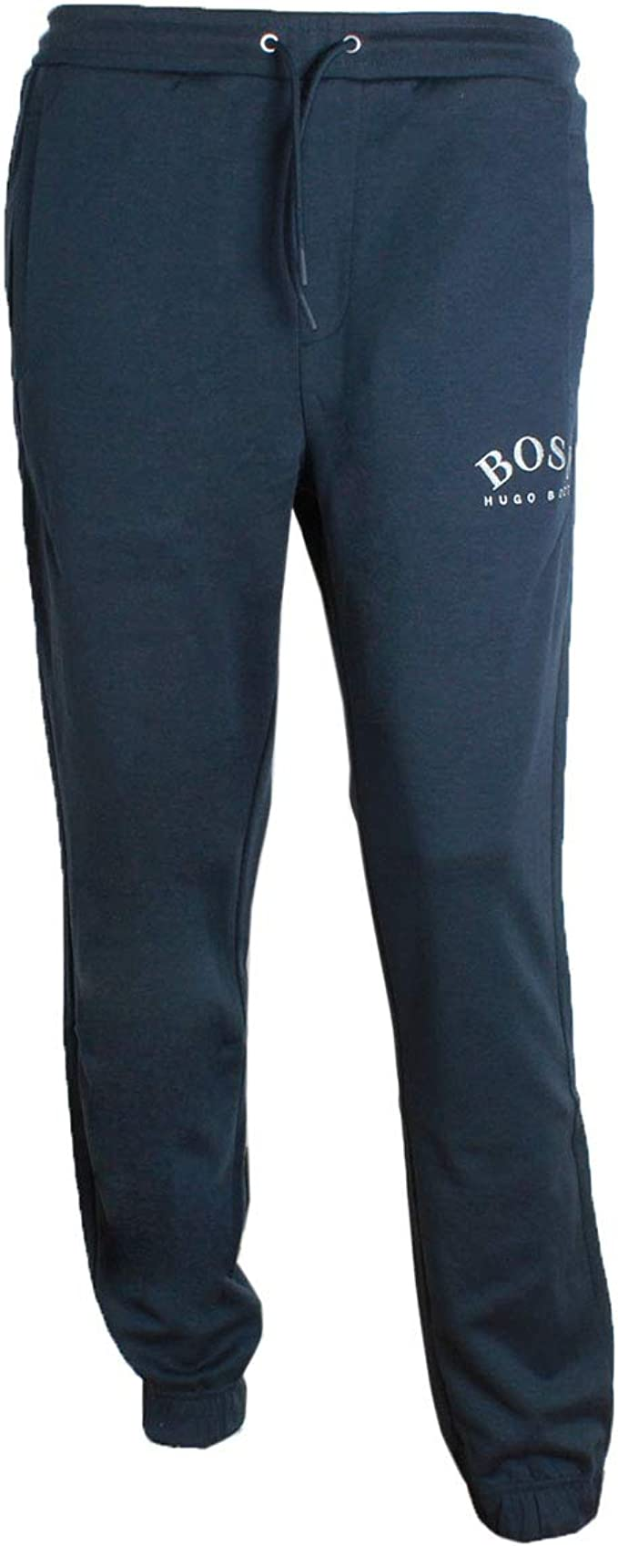 Mens Slim Fit Joggers Navy Tracksuit Bottoms Frontside Sportswear