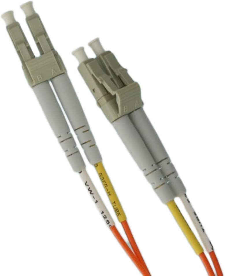 Leviton 62DLC-M03 Fiber Patch Cord 62.5//125um Multimode Duplex LC to LC 3 Meters