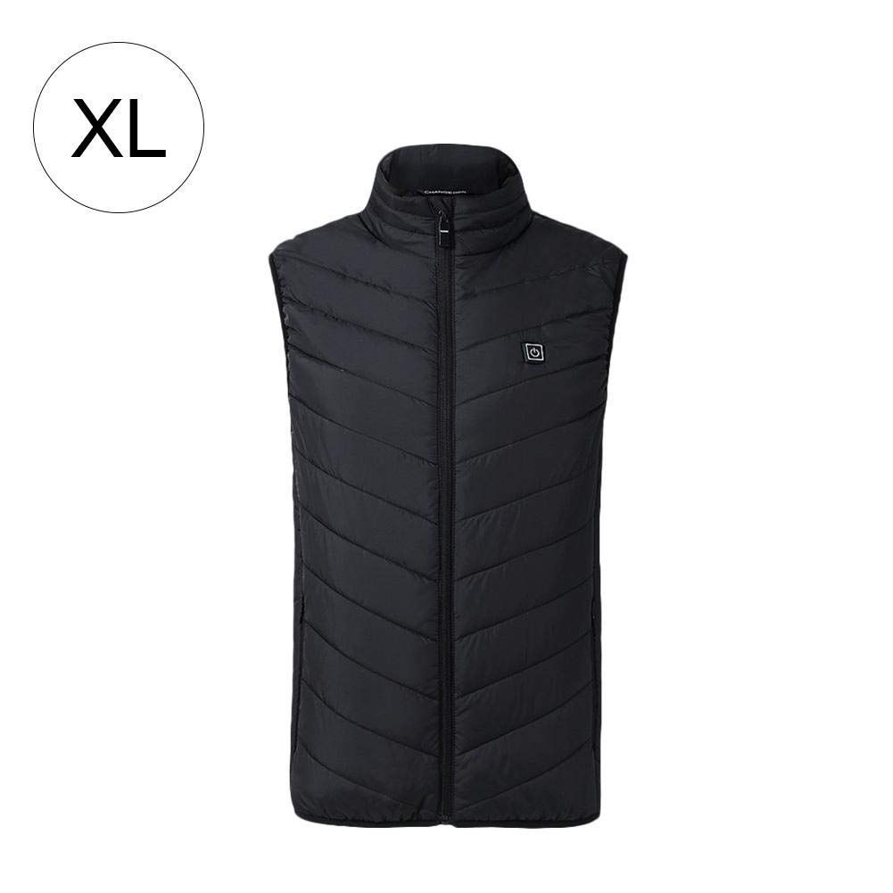 SinceY-123 Electric Heated Vest Unisex, Outdoor Sports Fishing Graphene Heated Winter Warm Vest USB Security Intelligent Constant Temperature Heating Vest For Men Women
