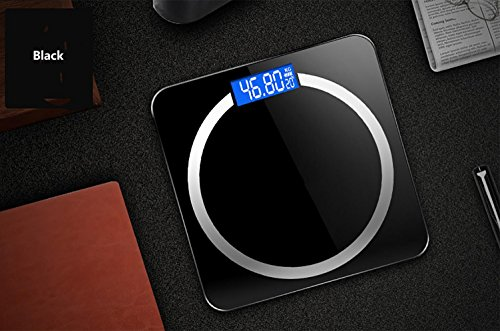 JMung'S Weighing Scale Electronic Intelligent Body Scales Accurate Home Health Scale Adult Bmi Weighing Instrument Rechargeable Electronic Scales , black