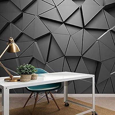 Custom Mural Wallpaper 3d Stereo Geometric Triangle Art Wall