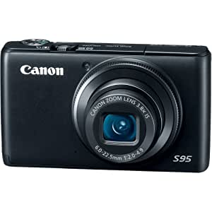 Canon PowerShot S95 10 MP Digital Camera with 3.8x Wide Angle Optical Image Stabilized Zoom and 3.0-Inch LCD