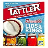 Tattler Canning Lids Half Pint Wide Mouth Boxed by Tattler Reusable Canning Lids