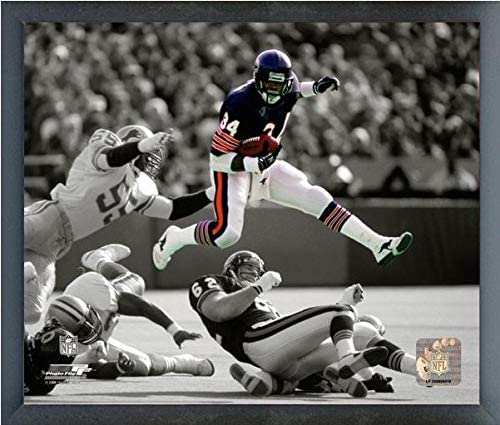 Size: 9 x 11 Framed Walter Payton Chicago Bears ProQuotes Photo