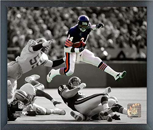 "Walter Payton Chicago Bears Spotlight Action Photo (Size: 9"" x 11"") Framed from Photo File"