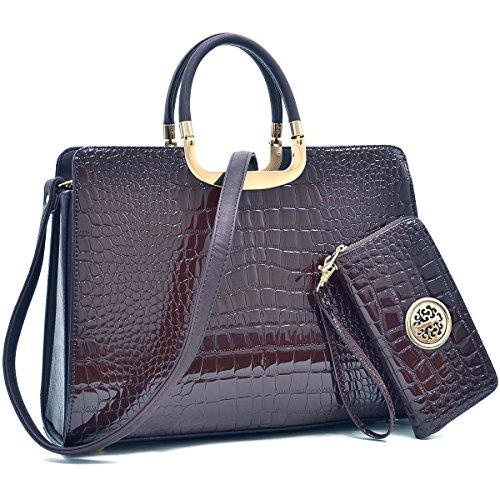 MMK Collection Satchel &Briefcase set~Satchel handbags with Wristlet wallet~Designer Purse for Women ~ Perfect Women Purse and wrist wallet~ Beautiful Designer Handbag Set (2828(13-168) CF