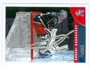 Autograph 107254 Columbus Blue Jackets 2013 Score No. 144 Sergei Bobrovsky Autographed Hockey Card
