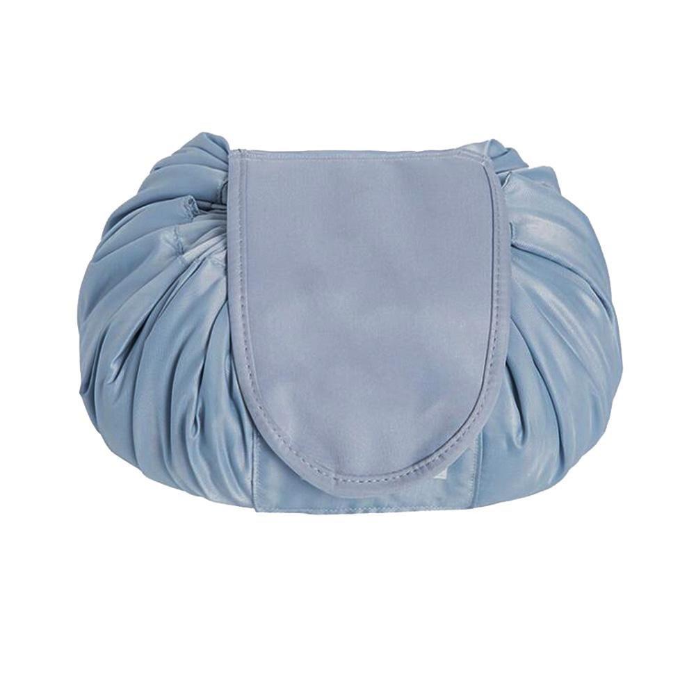 Everpert Large Capacity Drawstring Cosmetic Bag Portable Travel Storage Bag (Black)