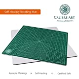 quilting cutting board - Calibre Art Self Healing Rotating Cutting Mat, Perfect for Quilting & Art Projects, 18x18 (17