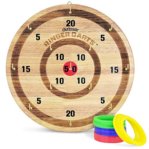 GoSports Ringer Darts Toss Game | Indoor Outdoor Hook Ring Toss Set for Kids & Adults ()