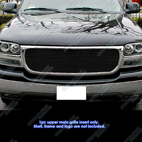 - APS G65704H Black Powder Coated Grille Bolt Over for select GMC Sierra 1500 Models