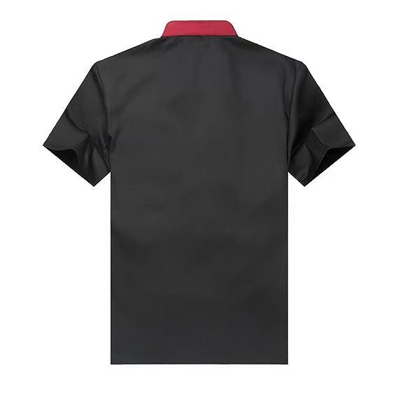 WAIWAIZUI Camisa de Cocinero Cocina Uniforme Manga Corta: Amazon.es: Ropa y accesorios