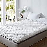 Breathable Double Tatami Mattress, Hypoallergenic Sponge Mattress Ultra Soft Mattress Pad Portable Folding Mattress Living Room Bedroom-White 90x200cm(35x79inch)