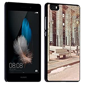 Accesorio Carcasa Funda–Funda original para Huawei P8Lite New York WST