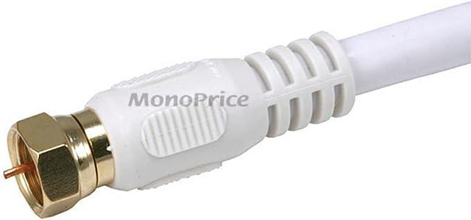 18AWG Black Monoprice 1000ft RG6 Quad Shield CL2 Bulk Cable