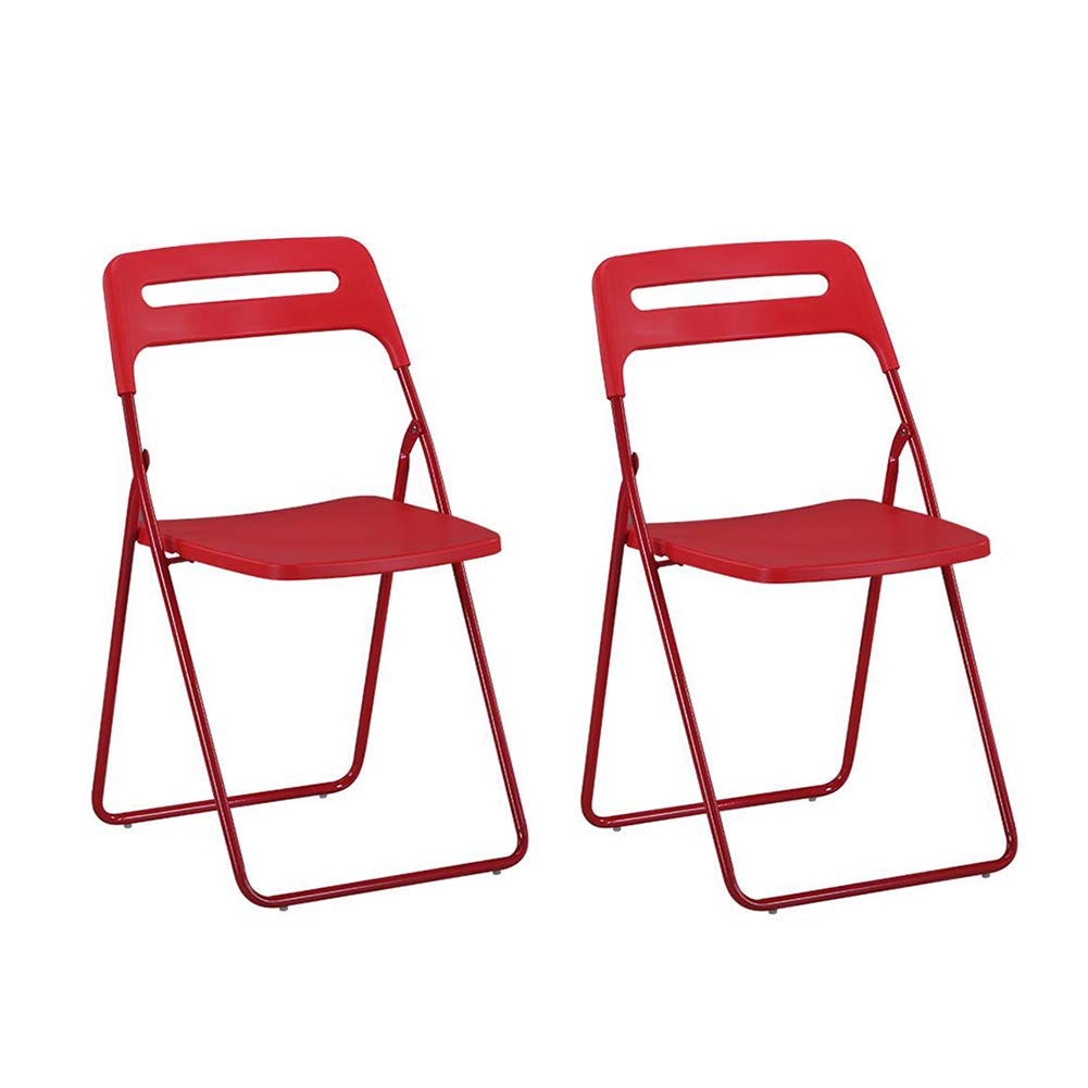 RED Dall Folding Chair Household Computer Chair Business Office Training Staff Pack-2 (color   Black)
