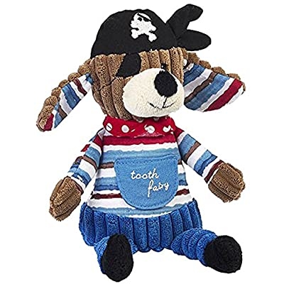 Maison Chic Patch The Pirate Dog Stuffed Animal Tooth Fairy Pillow with The Night Before The Tooth Fairy Book Gift Set: Toys & Games