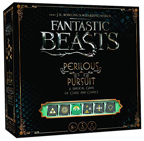 USAOPOLY Fantastic Beasts Perilous Pursuit Cooperative Dice Game | Harry Potter Fantastic Beasts and Where to Find Them Movie | Officially Licensed Harry Potter Game (Harry Potter Storage Box)