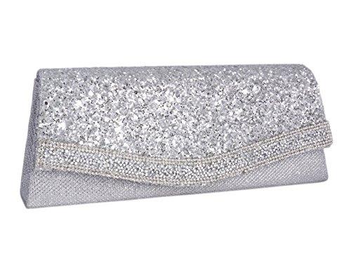 Leuke Champagne Diamonte voor zilver Palvo Adoptfade feest handtas vrouwen met glanzend 1qd7Cxw