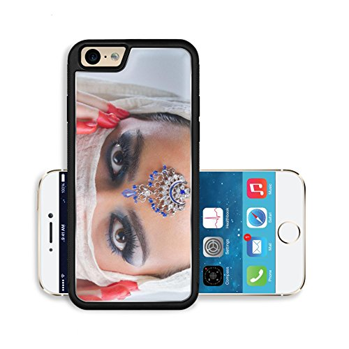 Liili Premium Apple iPhone 6 iPhone 6S Aluminum Backplate Bumper Snap Case IMAGE ID: 20148609 Fashion Beauty Beautiful Woman With hairsyle and Luxury Makeup isolated on white background in studio Beau
