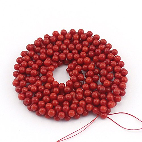 (SR BGSJ Jewelry Making 4x8mm Red Peanut Shape Gemstone Sea Bamboo Coral Jewelry Making Beads Strand 15
