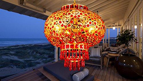 Lampadari Plafoniere Rosse : Fuchu cinese lanterne rosse festosa ciondolo lampada per il balcone