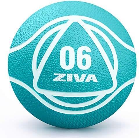 ZIVA Rubber Medicine Exercise Ball - Multiple, 2lbs-12lbs - Workouts, Core Training, Agility, Balance