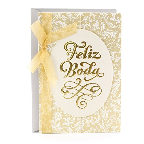 - Hallmark Vida Spanish Wedding Greeting Card (Feliz Boda)