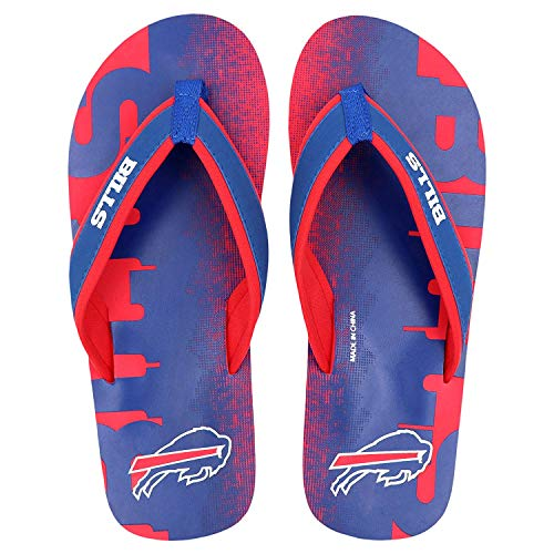 Flops Team Flip (Buffalo Bills NFL Contour Fade Wordmark - Mens - Medium)