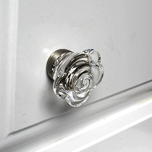Rose Glass Knob - 7