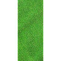 Ottomanson Garden Grass Collection Indoor/Outdoor Artificial Solid Grass Design Runner Rug, 20 x 59, Green Turf