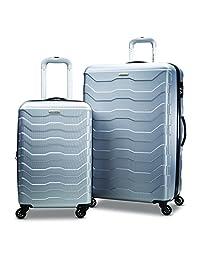 Samsonite Tread Lite Lightweight 2-Piece Hardside Luggage Set (20-Inch/24-Inch), Silver, Checked – Medium