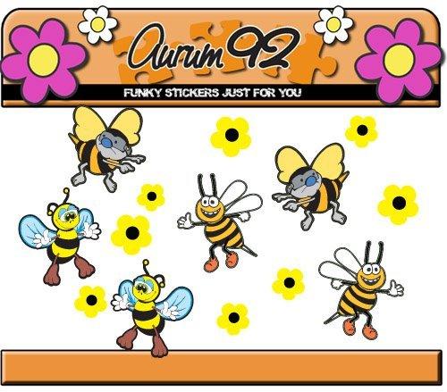 Bumble Bees. Wheelie Bin Stickers