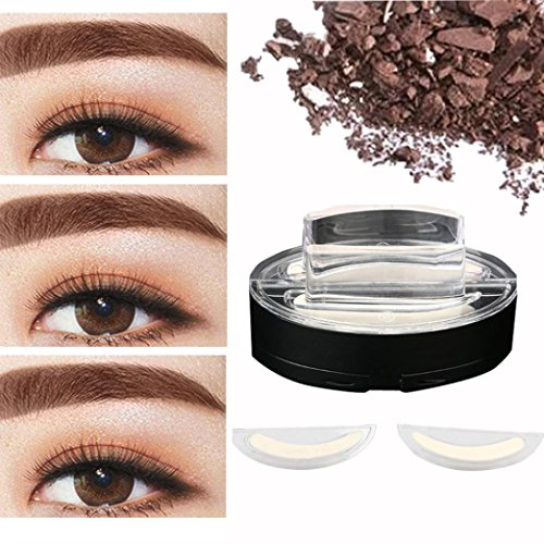 AMATM Brow Stamp Powder Waterproof Natural Perfect Enhancer Straight United Eyebrow Brown
