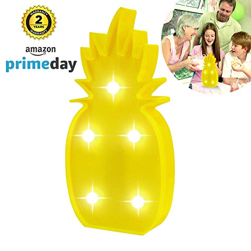 Price comparison product image Slook Marquee Light,  Pineapple LED Lamp Light Birthday Party Decoration for Valentine Gift