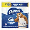 Charmin Ultra Soft Cushiony Touch Toilet Paper Family Mega Roll, 6 Count