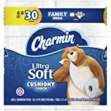 Charmin Ultra Soft Toilet Paper, Family Mega Roll with Cushiony Touch (5X More Sheets*), 6 Count