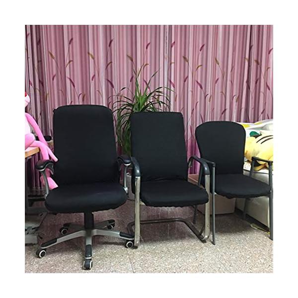 Housse universelle de chaise d'ordinateur ou de bureau, Noir , Taille M