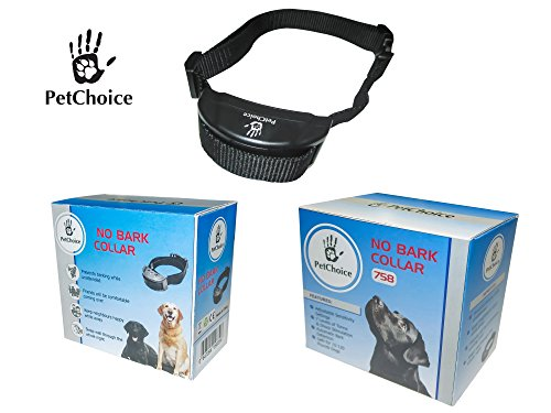 PetChoice No Bark Collar – Anti Bark Collar with 7 Different Correction Levels – Combination of Varying...