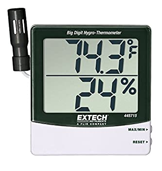 Extech 445715 Big Digit Hygro-Thermometer - monitor humidity and temperature levels carefully in your grow room