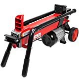 Electrical Log Splitter Wood Cutter with Mobile Hydraulic Wheels