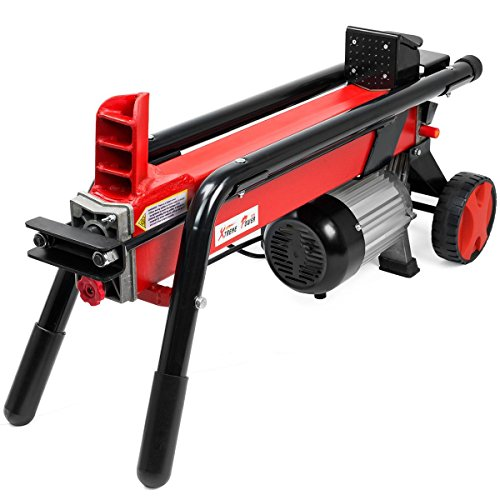 Electrical Log Splitter Wood Cutter with Mobile Hydraulic Wheels by Generic