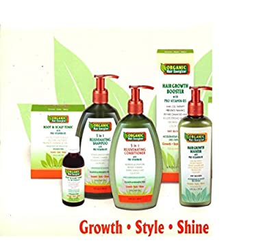 Organic Hair Energizer System - Full Treatment for Hair Loss/ Damage