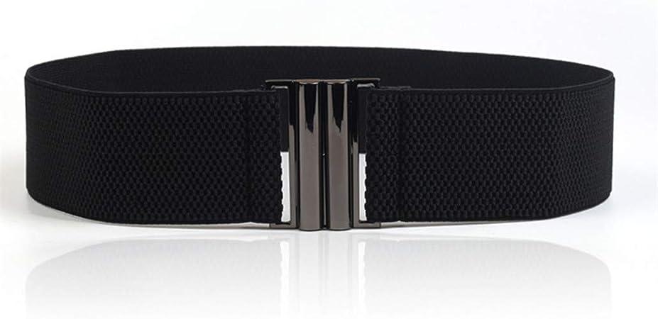 Dames filles taille élastique large ceinture boucle mode ceintures élastiques fr