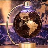 E-Plaza 8-inch Innovative Retro Magnetic Levitating Floating Globe for Home Office Decoration (Black)