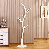 HOMEE European Creative Solid Wood Landing Coat Racks Bedroom Living Room with Wooden Floor Hangers (3 Colors Available),#3