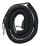 VOX VCC090BK 29.5-Feet Coiled Right Angle Stereo Guitar Instrument Cable, Black
