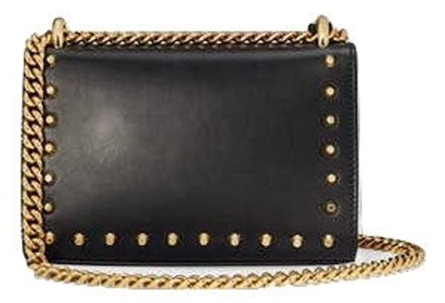344681b0a243 New Gucci Black Padlock Studded Leather Shoulder Bag: Amazon.co.uk: Shoes &  Bags