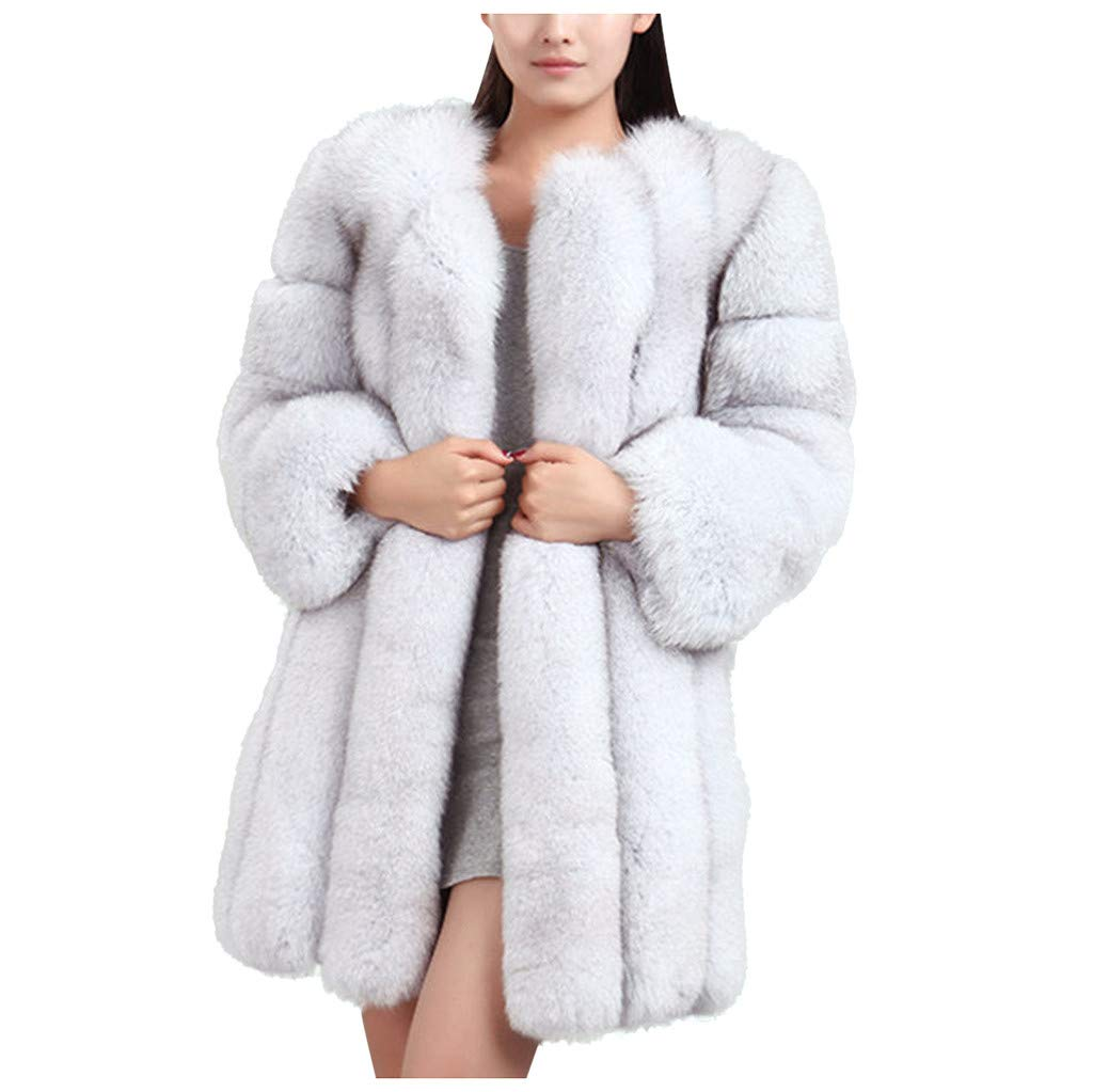 Benficial Womens Ladies Sleeveless Warm Faux Fur Waistcoat Solid Winter Loose Vest Coat by Benficial-Womens Coats