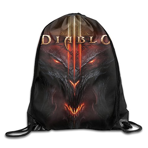 [ARPG Diablo 3 Fathom Studios Drawstring Backpack Sack Bag] (Diablo Reaper Of Souls Costume)